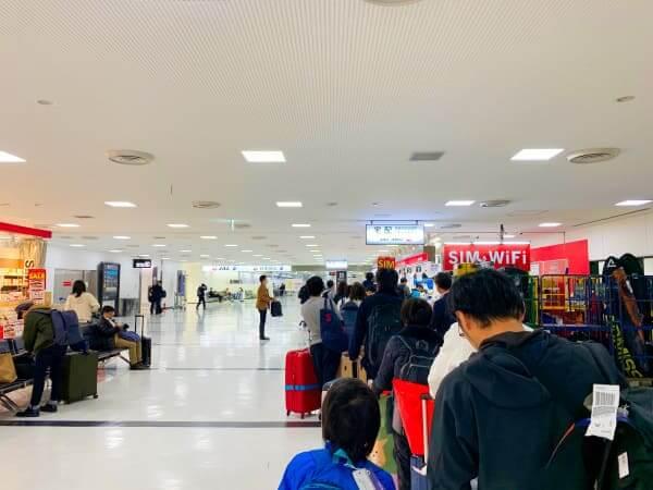 成田空港 コート受け取りカウンター