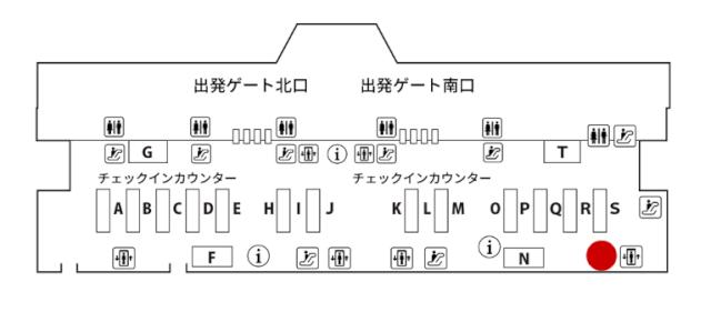 成田空港 JALABCカウンター地図