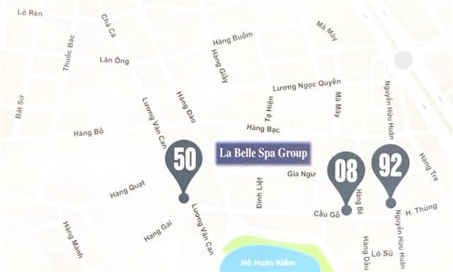 La Belle Vie Spa 店舗地図