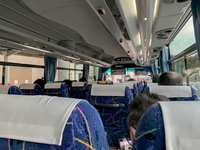秋田空港リムジンバス車内