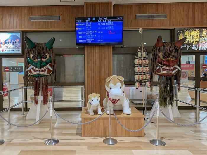 秋田空港到着出口