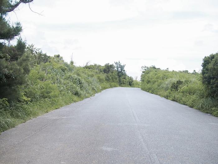 伊良部島三角点周辺道路