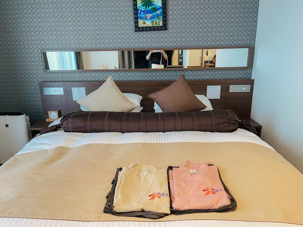 ホテルミヤヒラ客室ベッド