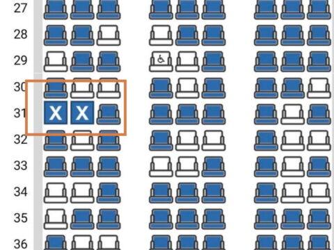 JAL予約後座席表
